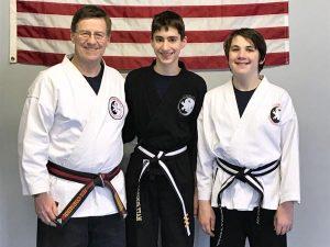 Goju ryu Karate Junior 3rd Degree Black Belt Matt and 1st Degree Black Belt Danny
