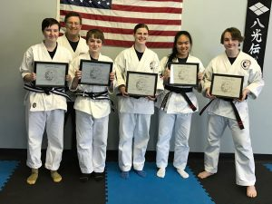 Goju ryu Karate Junior 2nd Degree Black Belt Gavin and 1st Degree Black Belt Emma