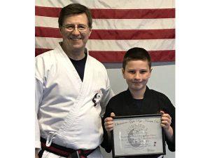 Goju ryu Karate Junior 2nd Degree Black Belt Okain