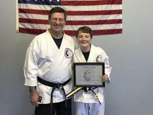 Yoshitsune Jujitsu Junior 3rd Degree Black Belt Josiah