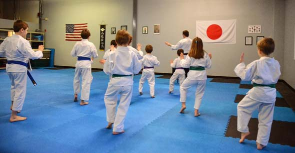 Kids Karate Classes at Cormier's Self Defense Academy in Holliston