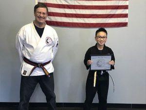 Goju Ryu Karate Junior 2nd Degree Black Belt Nathan